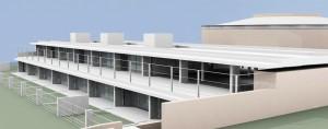 imatge de l'difici amb la llar d'infants a la planta baixa i l'aulari d'Infantil a la planta primera.