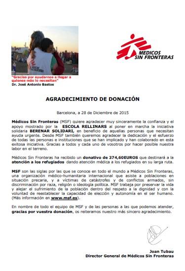MSF berenar solidari desembre 15