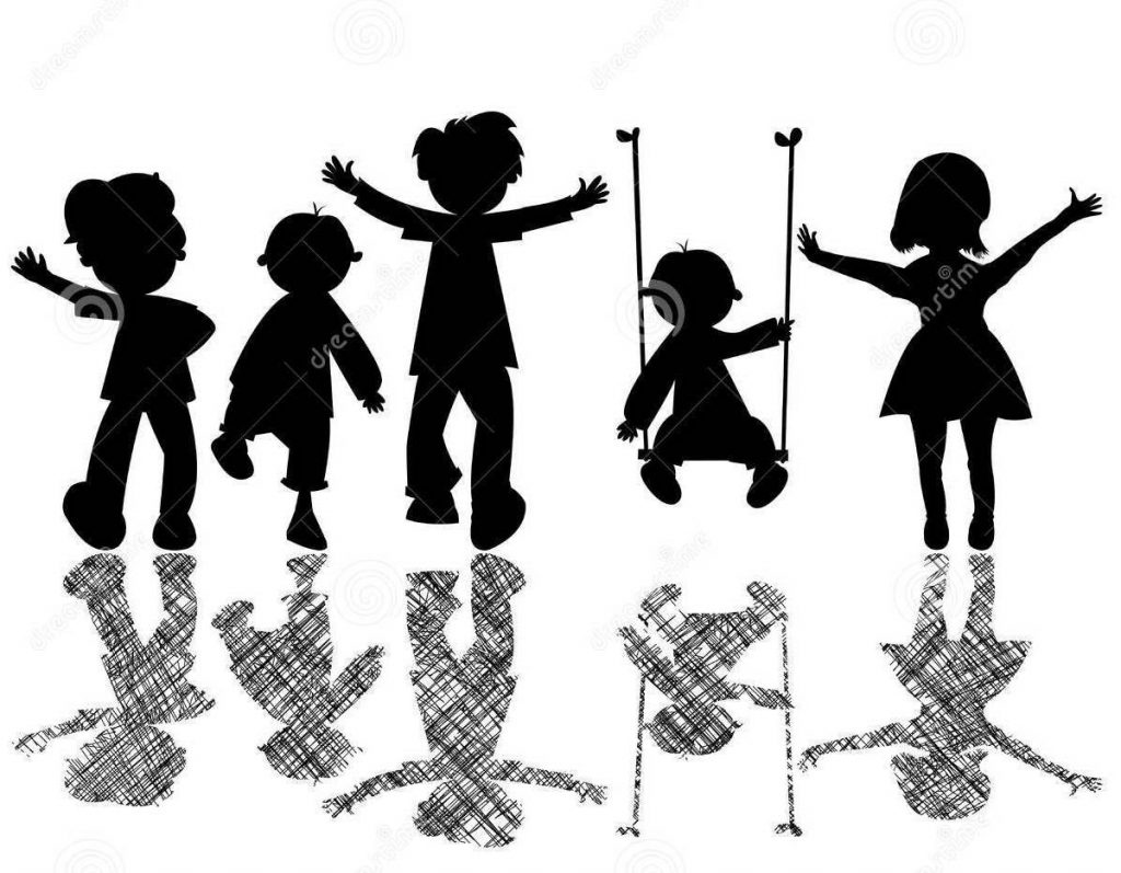 http://www.dreamstime.com/stock-image-happy-little-children-striped-shadows-image13342301