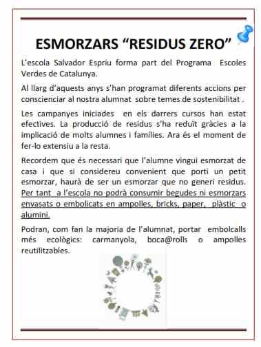 ESMORZARS AL COLE