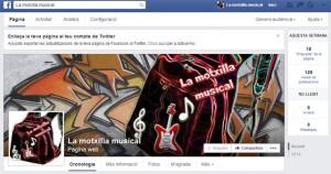 La motxilla musical facebook
