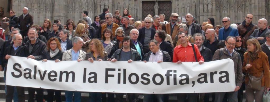 Jornada en Defensa de la presència de la Filosofia en l'educació Secundària. Plaça de la Catedra, Barcelona 2012