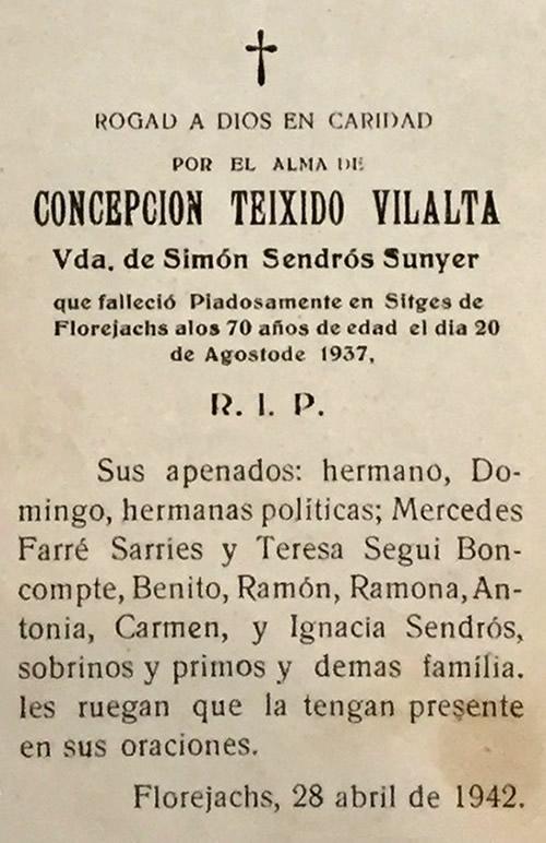 1937 Concepcion Teixido Vilalta