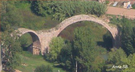 Pont del diable sobre el riu Cardener