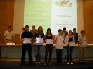 Tercers Finalistes 4t Fonix 2011 a Catalunya - promogut pel Servei de Llengües Estrangeres -Cap de Servei  Neus Lorenzo