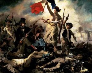 La libertad guiando al pueblo - Eugene Delacroix 1830