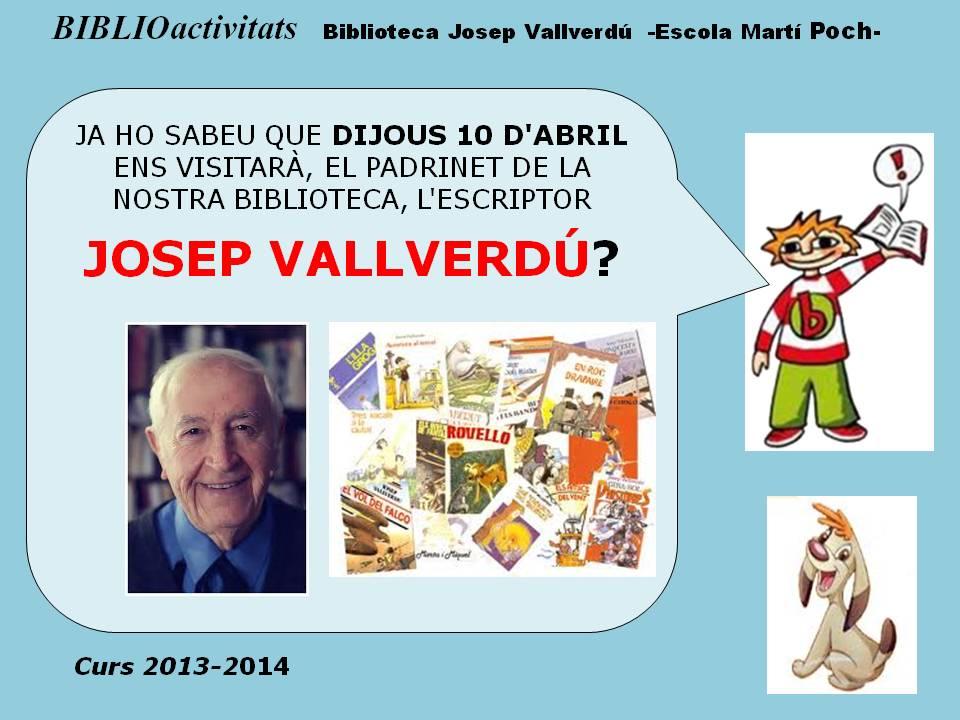 CARTELL VISITA JOSEP VALLVERDÚ