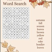 Autumn wordsearch