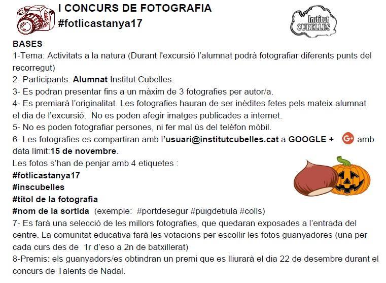 CONCURS CASTANYADA FOTOGRAFIA 2017-18