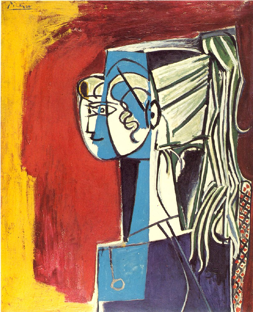 portrait of sylvette Object information: artist: pablo picasso, spanish, 1881-1973 portrait of sylvette 1954 oil on canvas 39 x 32in (991 x 813cm) gift of the estate of tom slick.