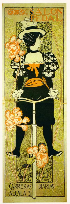 """Alexandre de Riquer, """"Salón Pedal"""", 1897"""