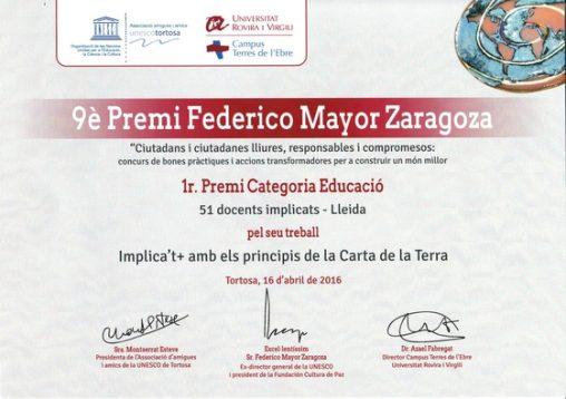 9è Premi Federico Mayor Zaragoza