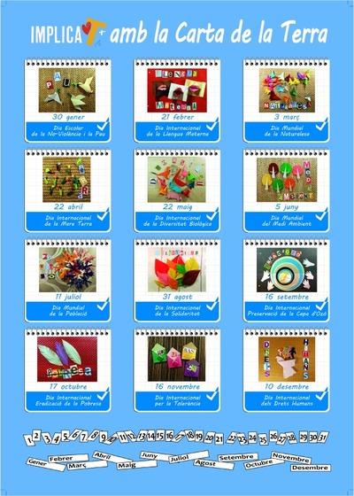 Calendari Implica't+ amb la Carta de la Terra