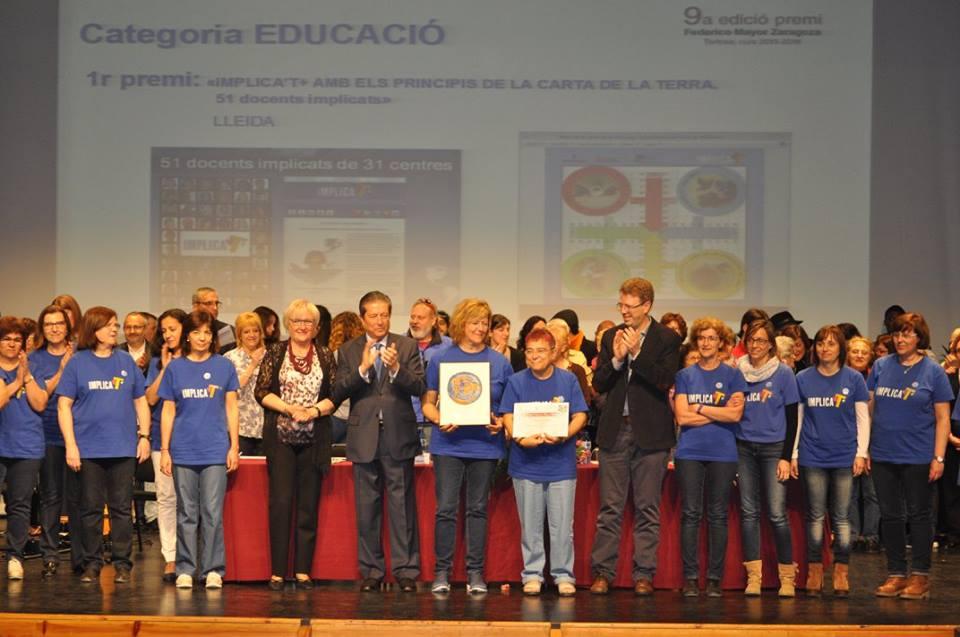 1er Premi Federico Mayor Zaragoza