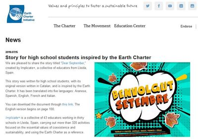 Story for high school students inspired by the Earth Charter