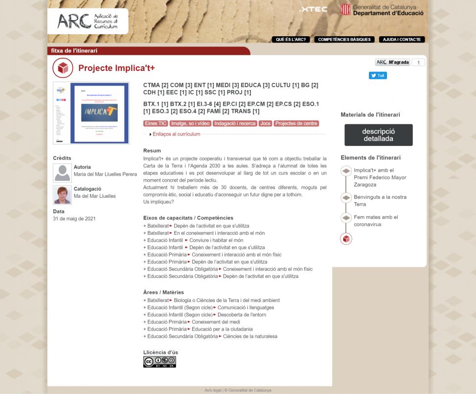 Projecte Implica't+ ARC
