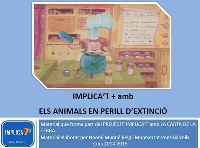 Implica't+ amb els animals en perill d'extinció