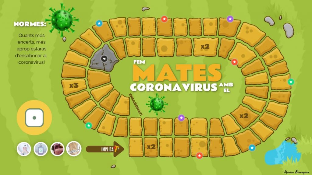 Fem mates amb el coronavirus