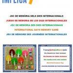 Implica't+ amb el joc de memòria dels dies internacionals