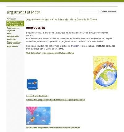 Argumentación oral de los principios de la Carta de la Tierra