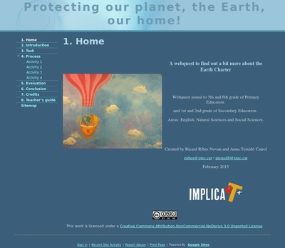 Protecting our planet, the Earth, our home!