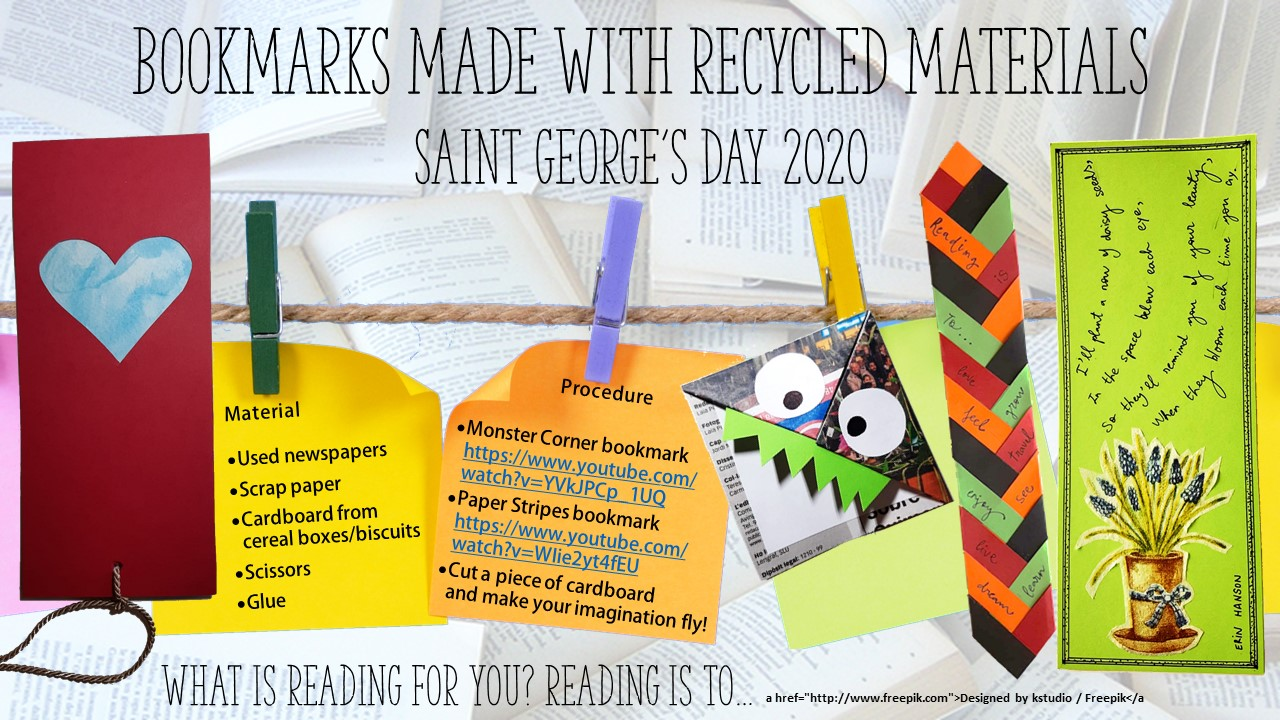 Bookmarks made with recycled materials