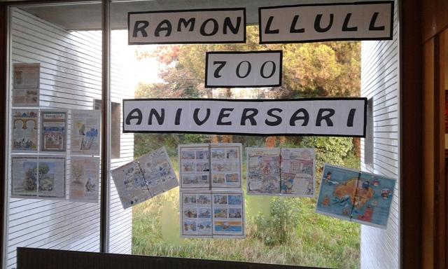 Exposició en commemoració del 700 aniversari de Ramon Llull. Amb la col·laboració de l'alumnat de PM.
