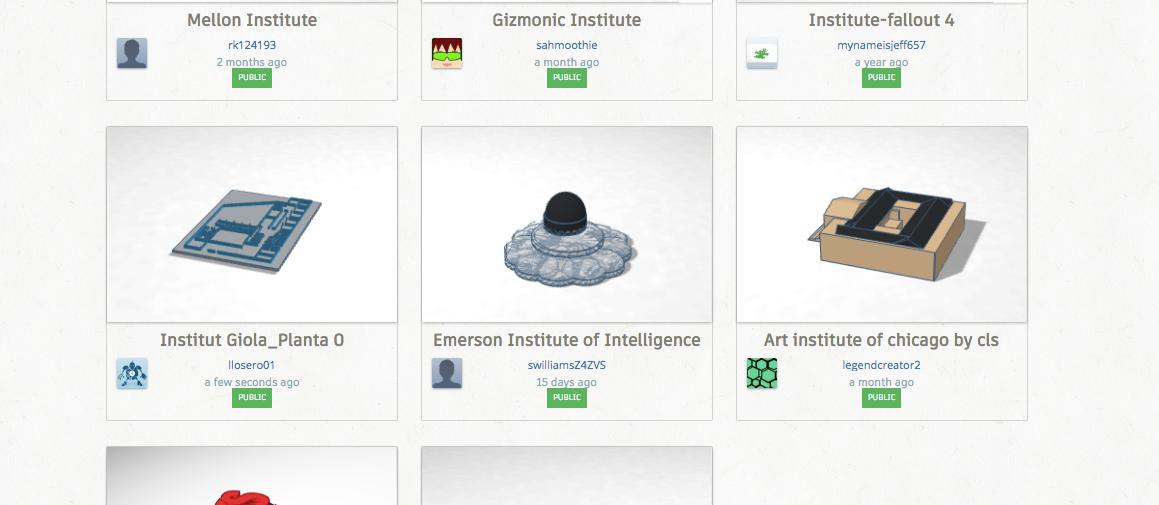Institut Giola 3D. Tinkercad