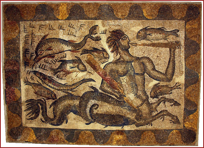Mosaic ictiocentaure