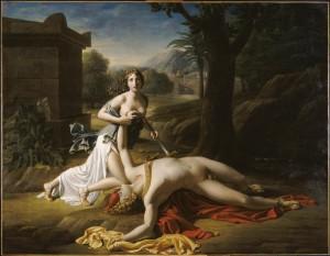 Pierre-Claude Gautherot Píramo y Tisbe, 1799 óleo sobre lienzo. Centre National des Arts, París