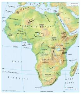 Relleu i rius d'Àfrica