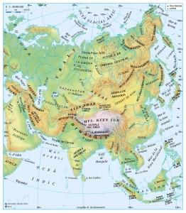 Relleu i rius d'Àsia