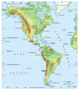 Relleu i rius d'Amèrica