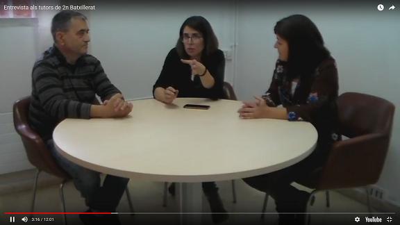 Entrevista als tutors de 2n de batxillerat