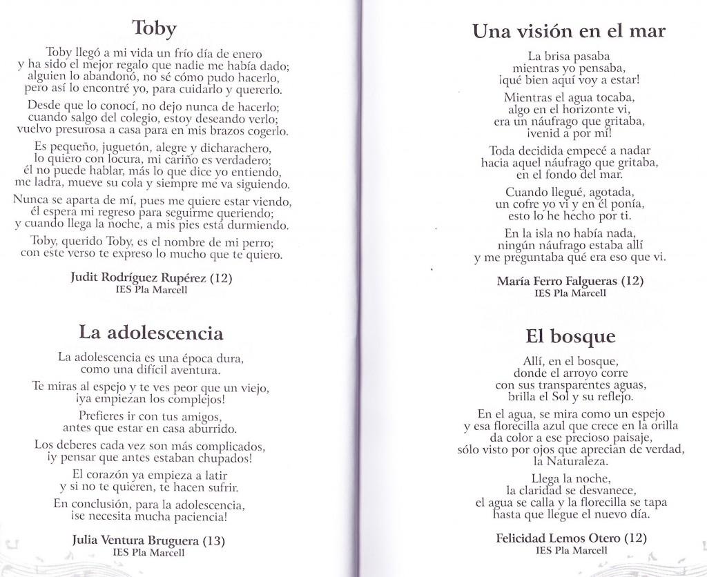 Encuentra poema adolescente donde joven