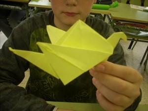 L'oiseau en papier