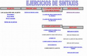 Ejercicios sintaxis