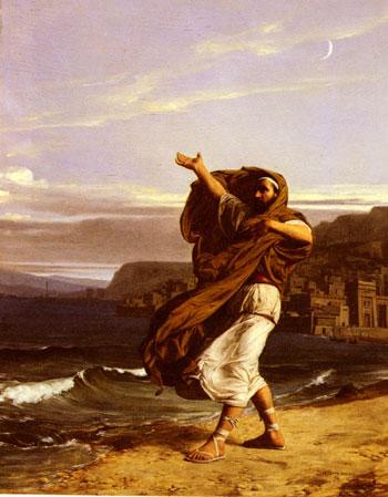 """""""Demòstenes practicant l'oratòria vora el mar"""" de Jean-Jules-Antoine Lecomte du Nouÿ (1842–1923)"""