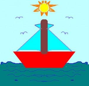 A la mar hi ha un vaixell