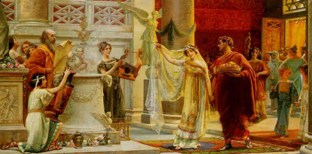 Cerimònia matrimonial en època clàssica.