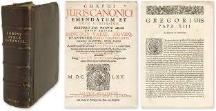 Representació del corpus Iuris Canonici.