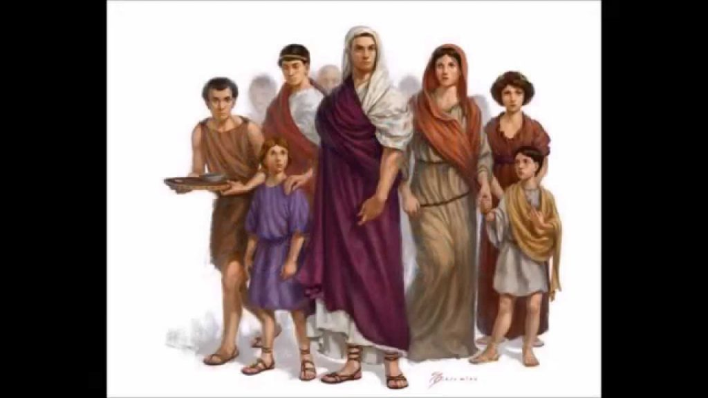 Representació d'una família romana.