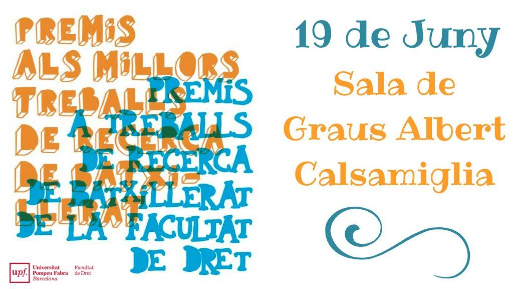 Cartell que anuncia la recollida de premis de Treballs de recerca.