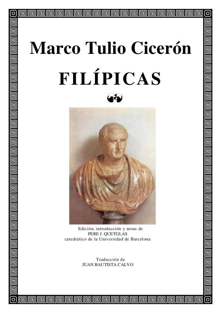 Obra de Ciceró. Les filípiques.