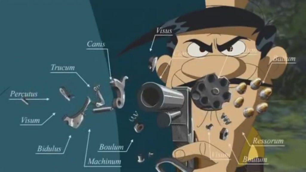Go west Lucky Luke parts revolver (llatí científic macarrònic)