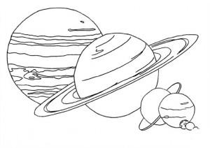 pintar planetes jupiter saturn nens