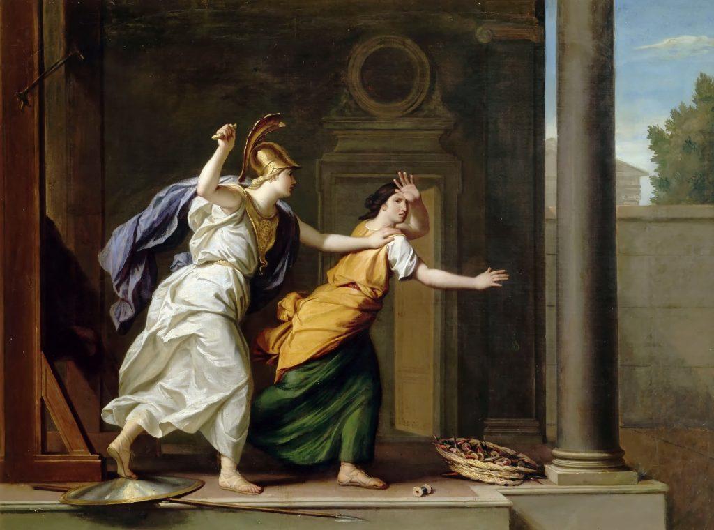 """""""Minerva i Aracne"""" de René-Antoine Houasse (1706)"""