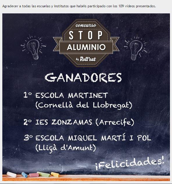GUANYADORS STOP ALUMINIO