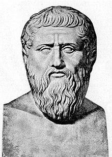 Escultura sobre el filòsof Plató.