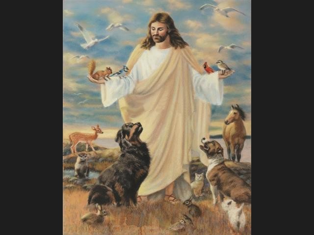 Figura de Jesus representada, amb influencies d'Orfeu.